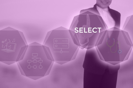 SELECT - technology and business concept