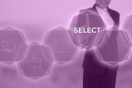 SELECT - technology and business concept Reklamní fotografie - 117598464