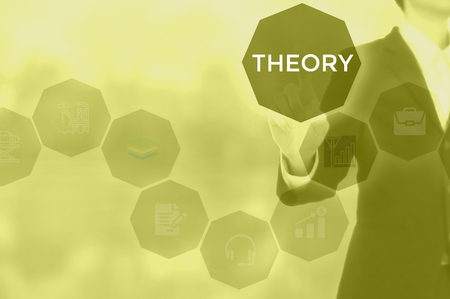 THEORY - technology and business concept Stock Photo