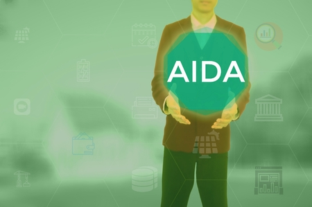 AIDA - business and techonology concept