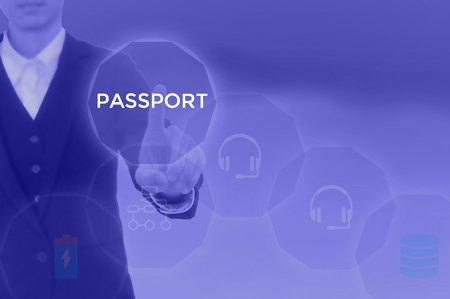 PASSPORT - technology and business concept