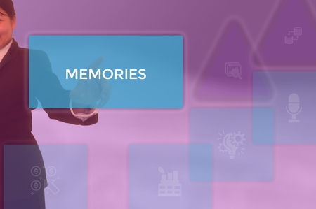 MEMORIES - technology and business concept