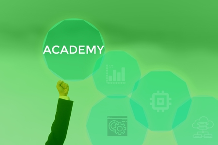 select ACADEMY - technology and business concept