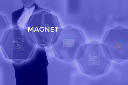MAGNET - technology and business concept 写真素材