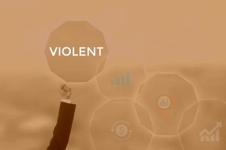 VIOLENT - technology and business concept