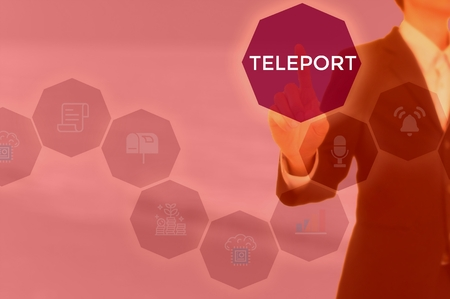 TELEPORT - technology and business concept