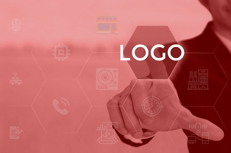 LOGO - technology and business concept Stock Photo
