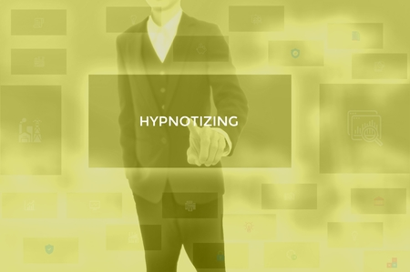HYPNOTIZING - technology and business concept Stock Photo