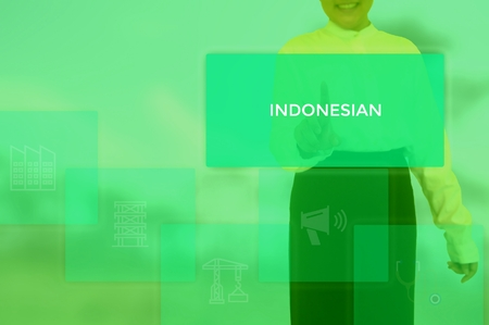 INDONESIAN - technology and business concept Stock Photo