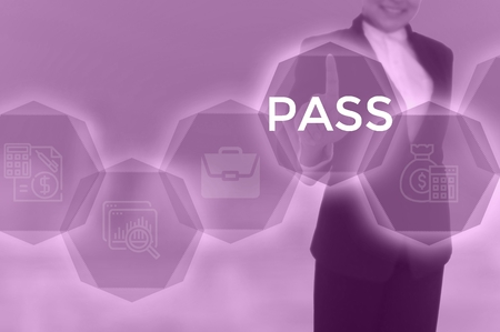 PASS - technology and business concept