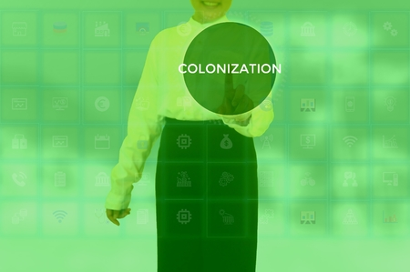 COLONIZATION - technology and business concept