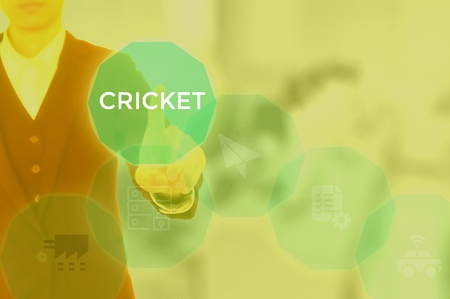 CRICKET - technology and business concept Banco de Imagens