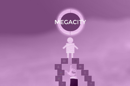 MEGACITY - technology and business concept