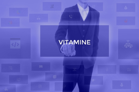 VITAMINE - technology and business concept Stock Photo