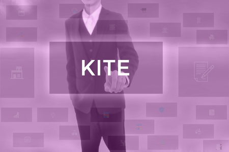 KITE - technology and business concept Stock Photo