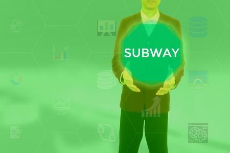 SUBWAY - technology and business concept Reklamní fotografie