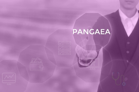 PANGAEA - technology and business concept 스톡 콘텐츠