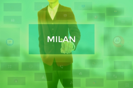 MILAN - technology and business concept 版權商用圖片