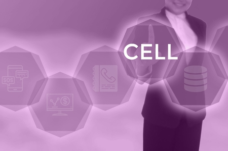 CELL - technology and business concept Zdjęcie Seryjne