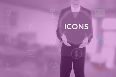 ICONS - technology and business concept
