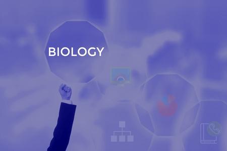 select BIOLOGY - technology and business concept Zdjęcie Seryjne