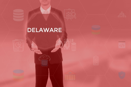 DELAWARE - technology and business concept Stock Photo