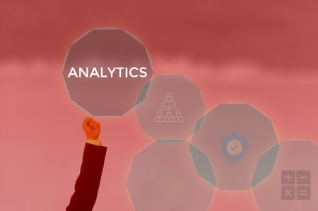select ANALYTICS - technology and business concept