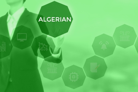 select ALGERIAN - technology and business concept Stock Photo