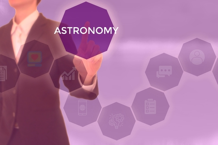 select ASTRONOMY - technology and business concept