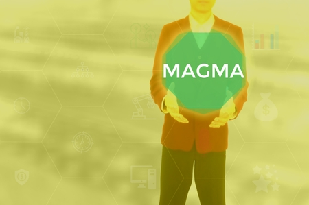 MAGMA - technology and business concept 스톡 콘텐츠