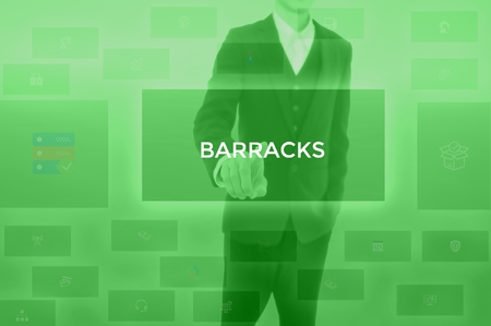 select BARRACKS - technology and business concept