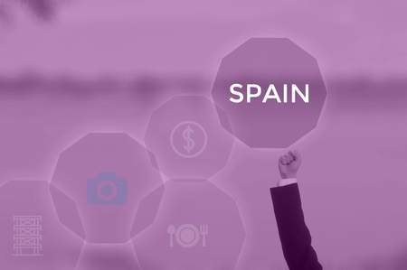 SPAIN - technology and business concept 写真素材