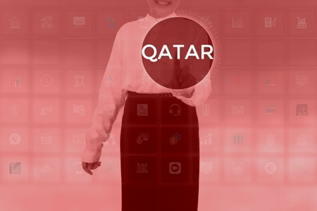 QATAR - technology and business concept Stock Photo