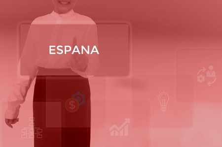 ESPANA - technology and business concept Stock Photo