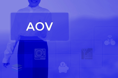 AOV - business and techonology concept Stok Fotoğraf