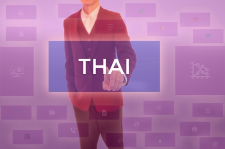 THAI - technology and business concept Stock Photo