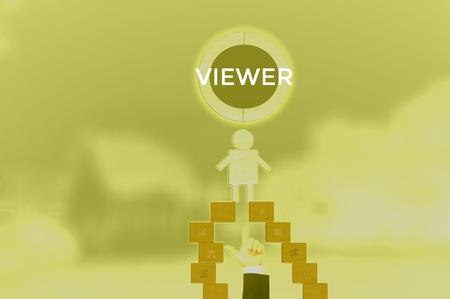 VIEWER - technology and business concept Reklamní fotografie - 119410036