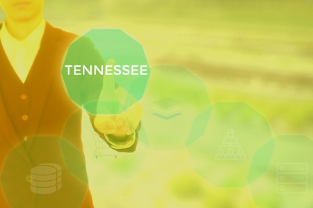 TENNESSEE - technology and business concept Stock Photo