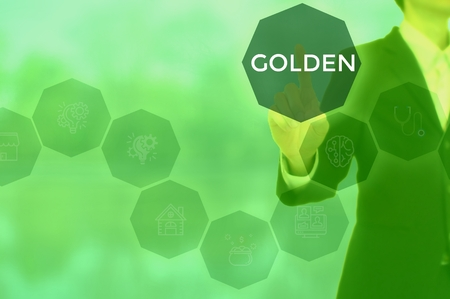 GOLDEN - technology and business concept