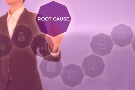 root cause analysis (RCA)-problem solving concept Standard-Bild - 119446559