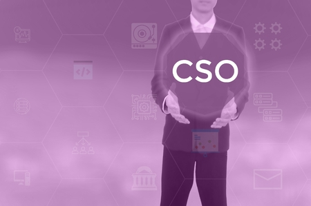 chief strategy officer,chief security officer,chief sourcing officer - business concept Stock Photo