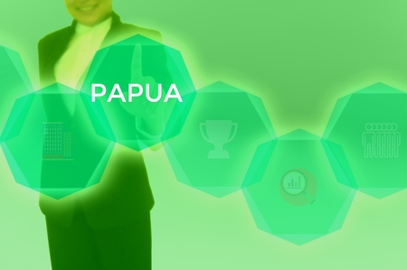 PAPUA - technology and business concept Stock Photo