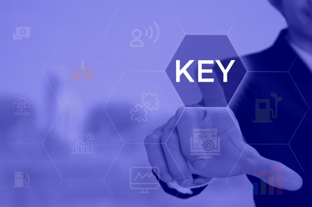 KEY - technology and business concept Stock Photo