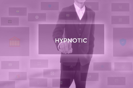 HYPNOTIC - technology and business concept Stock Photo