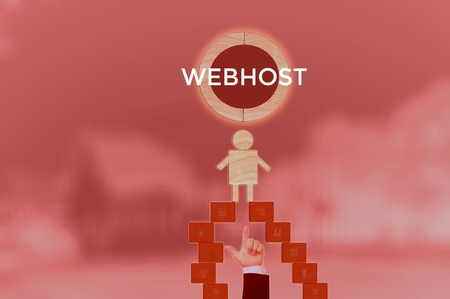 WEBHOST - technology and business concept Stock Photo