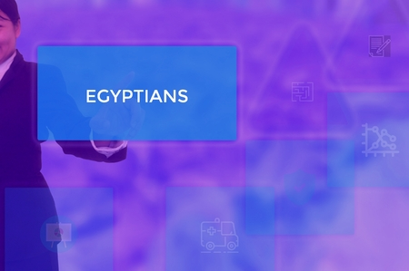EGYPTIANS - technology and business concept Stock Photo
