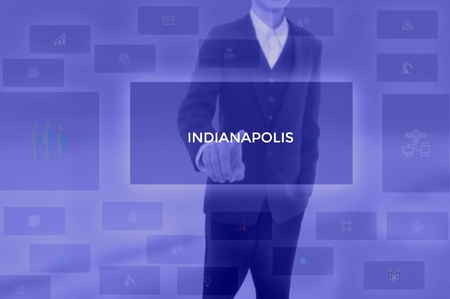 INDIANAPOLIS - technology and business concept