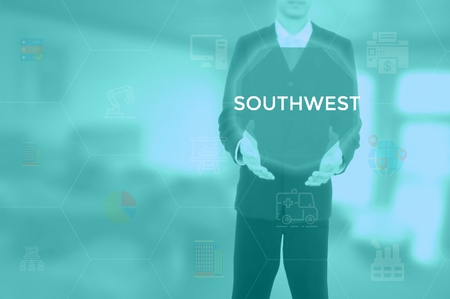 SOUTHWEST - technology and business concept Stock Photo