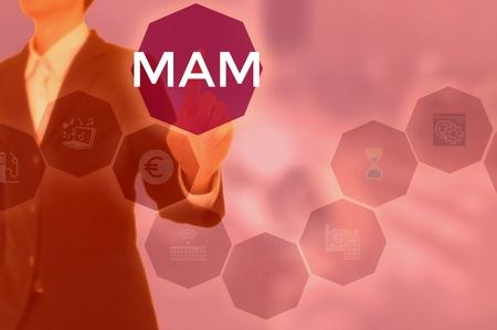 mobile application management or Media Asset Management - business concept