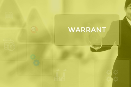 WARRANT - technology and business concept